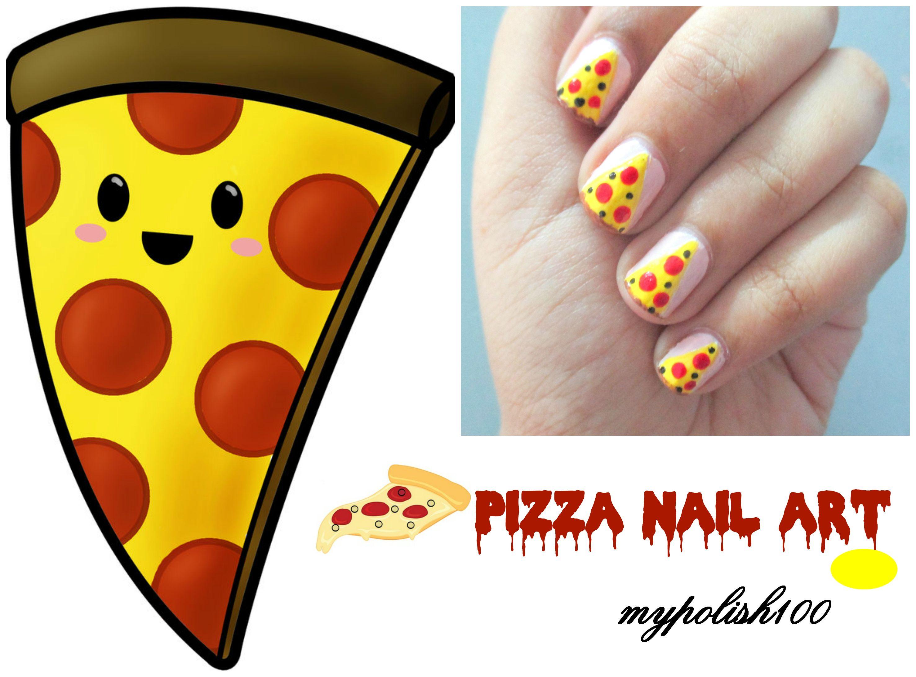 Pizza nail art! #pizza #nailart #pizzanailart #food | ♡♡Nail art ...