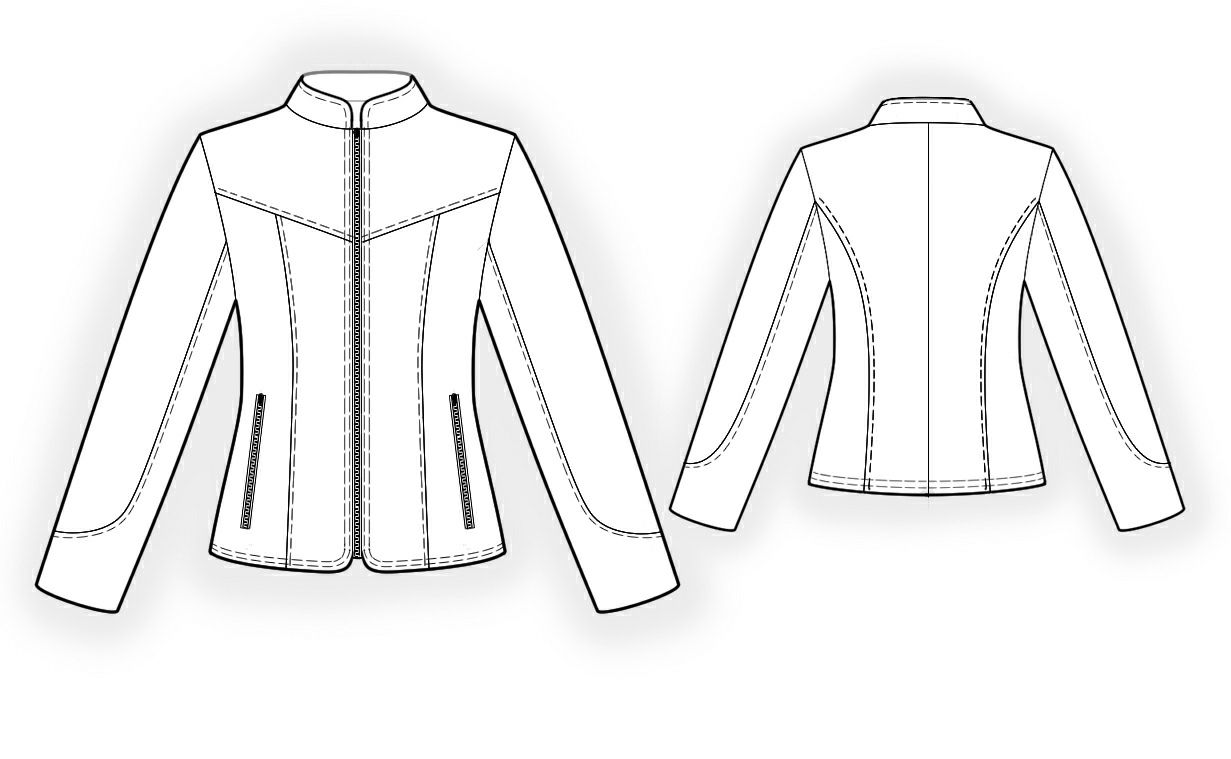Leather Jacket - Sewing Pattern #4296 Made-to-measure sewing pattern ...