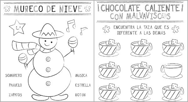 Spanish christmas worksheets free worksheets library for Christmas coloring pages spanish