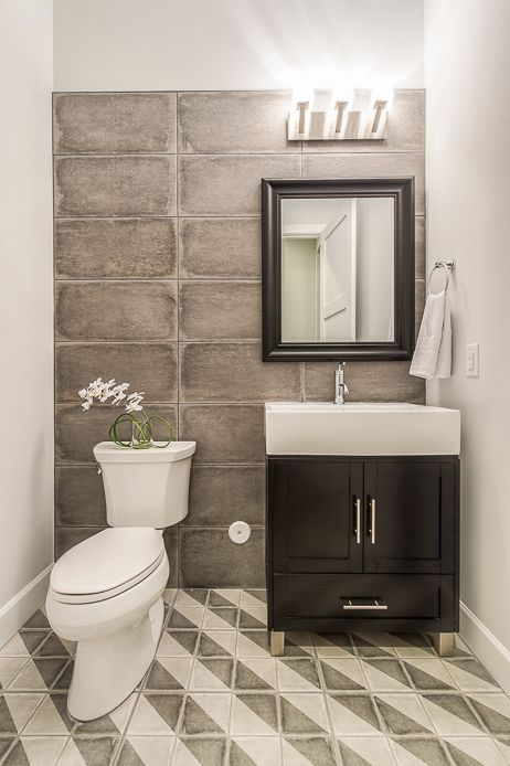 Contemporary Powder Room with Bellaterra Home Ramsey 32 ...