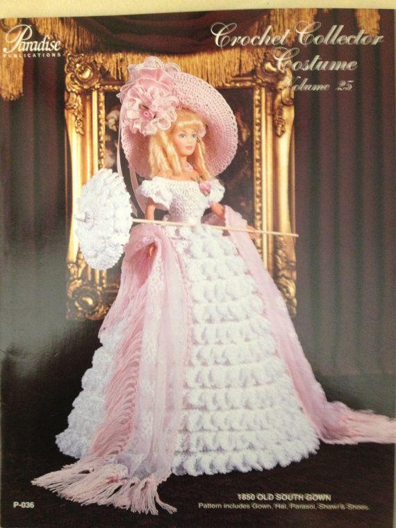 Vintage Crochet Barbie Pattern Paradise Publication 1850 Old South ...
