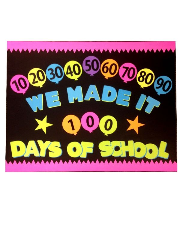 100 days of school poster idea 100days classroom poster