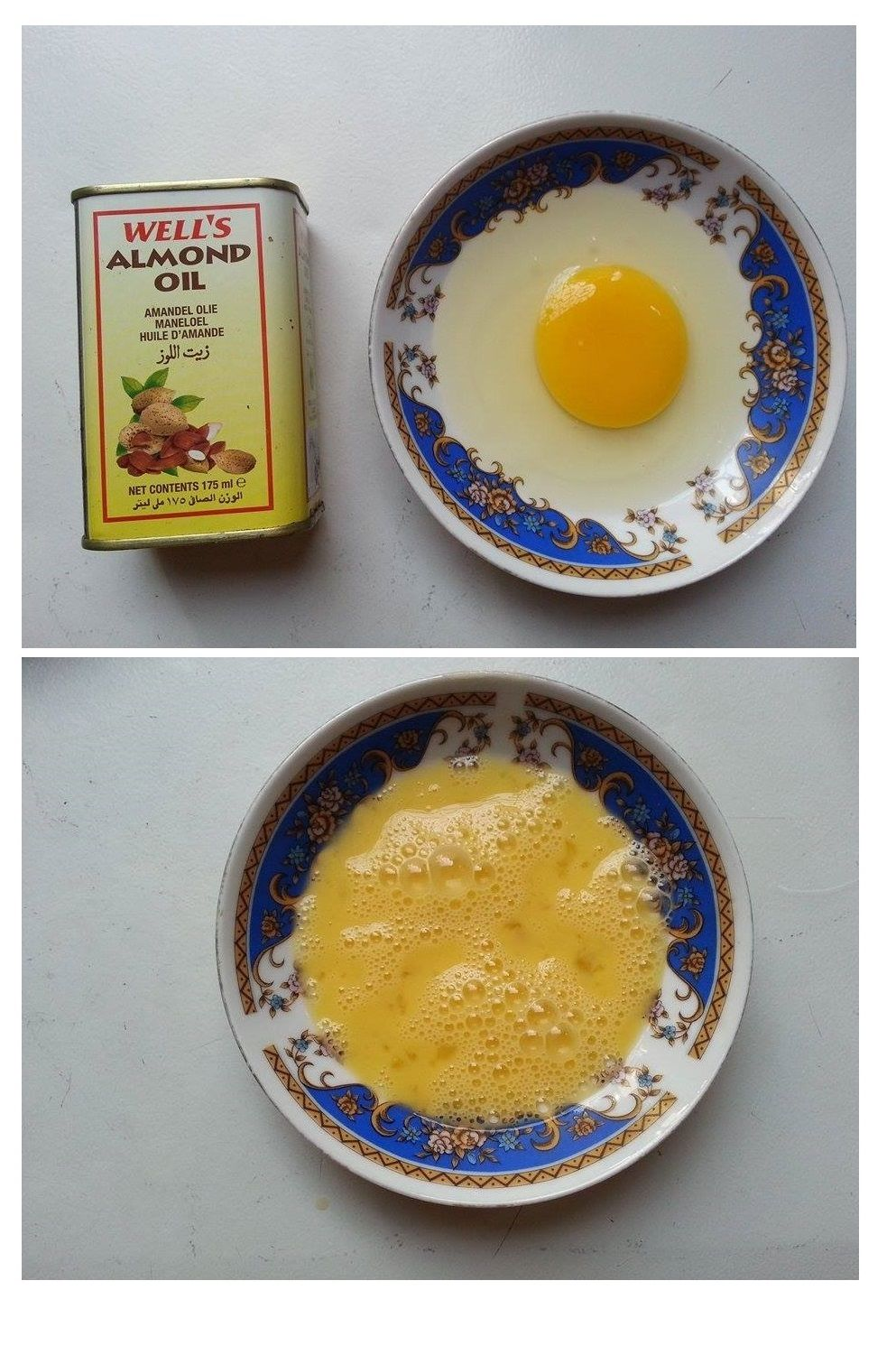 Egg and Almond Oil Mask for Hair