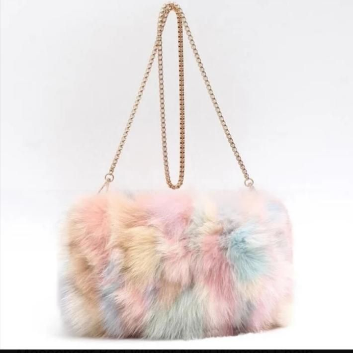 Fashion Designer Real Fox Fur Women Messenger Bag Winter New Women Chain  Shoulder Bag Luxury Fur Handbag Large Lady Clutch Bag 3417c96971ecd