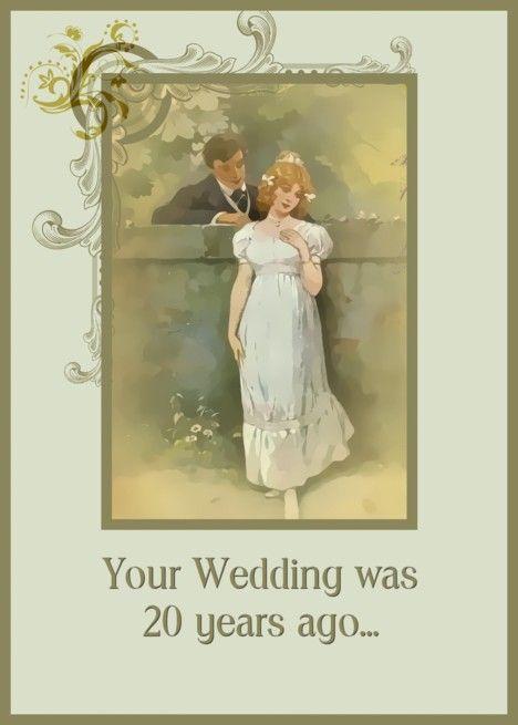 Happy 20th anniversary nostalgia vintage wedding card #20thanniversarywedding