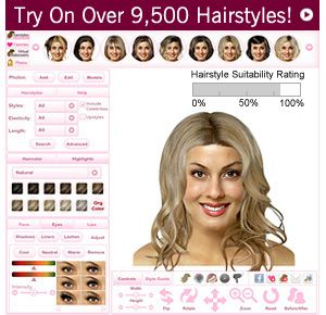 Thehairstyler Com Virtual Hairstyler Free Prepossessing The Right Hairstyle For Your Face Shape  Face Shapes Face And