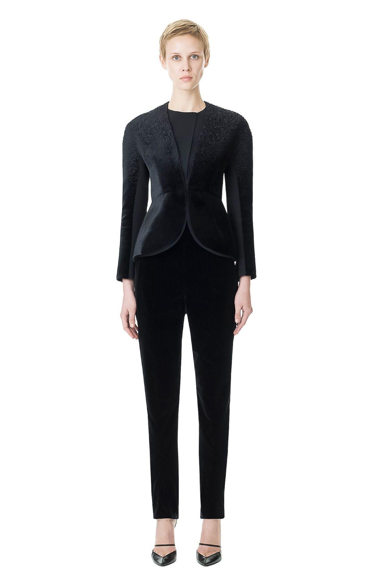 BALENCIAGA PETAL JACKET BLACK | Sleek petal shape jacket