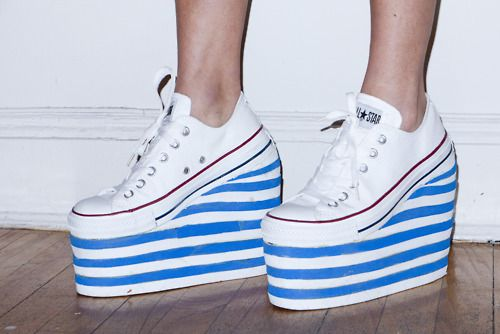 Fancy - Terry Richardson's Diary | Jen Brill's awesome new converse wedge heel stacks...