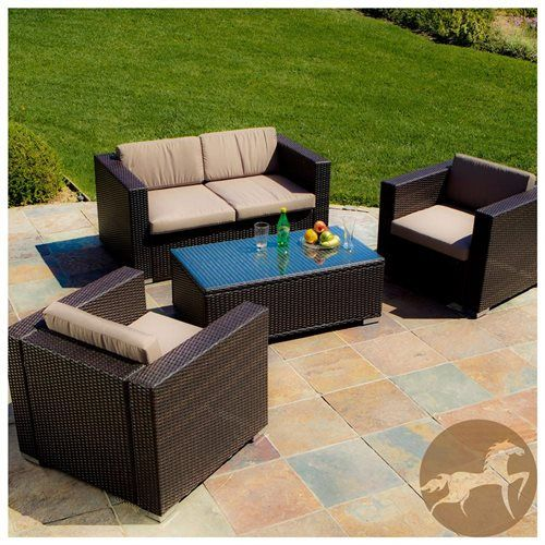 Christopher Knight Home Murano Pe Wicker Outdoor 4 Piece Sofa Set Outdoor Sofa Sets Patio Furniture Sets Outdoor Furniture