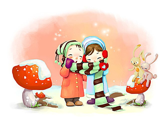 فصل الشتاء خلفية كرتون الأطفال Cartoon Wallpaper Hd Cute Cartoon Wallpapers Cartoon Wallpaper