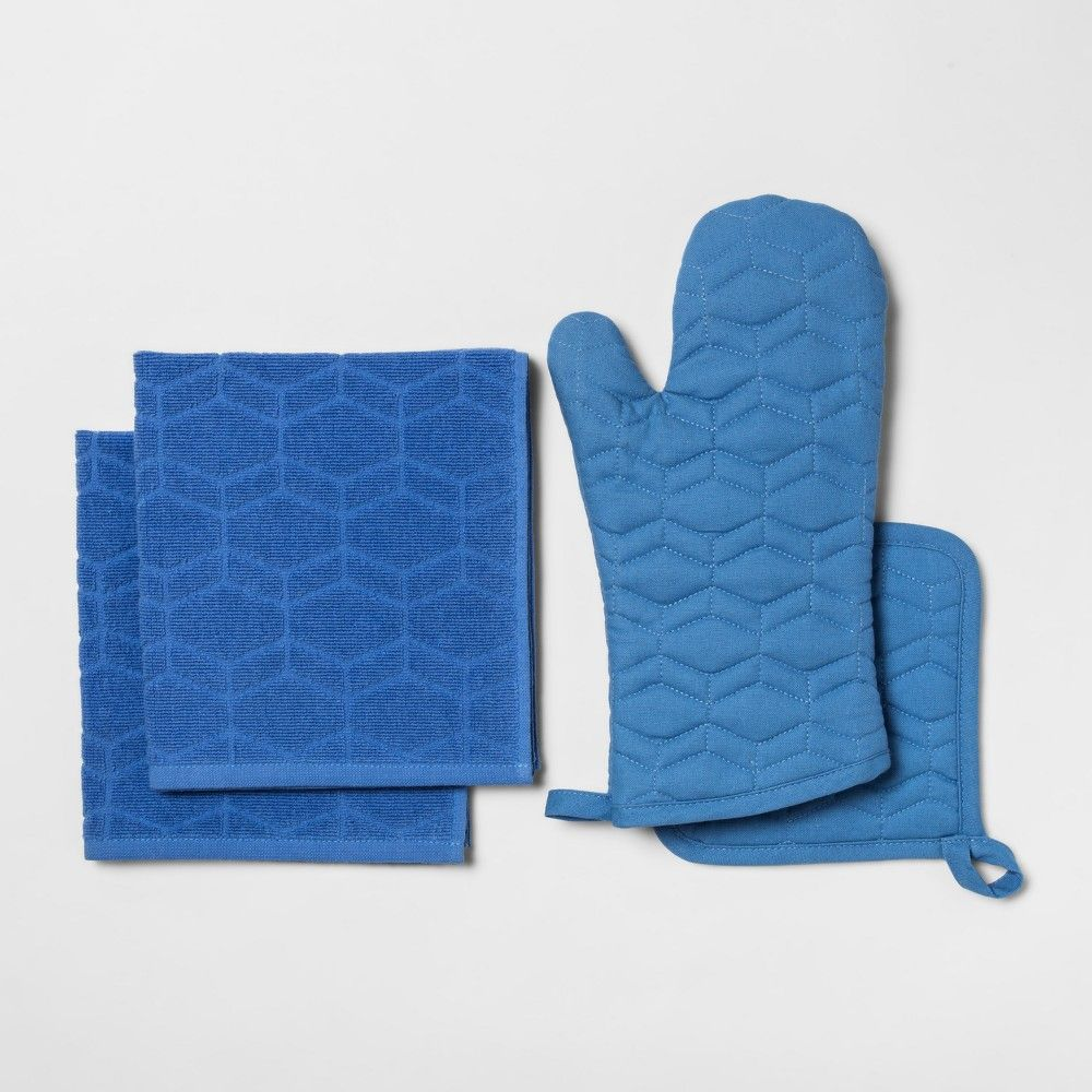 Blue Kitchen Textile Set - Room Essentials | Products | Pinterest ...