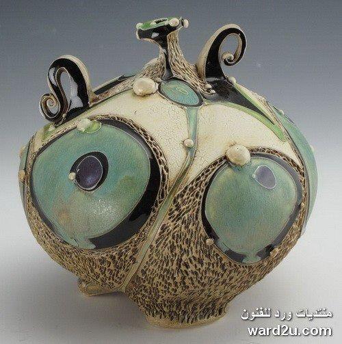 زخارف نباتية خزفيات رائعة للفنانة Carol Long الصفحة 3 Pottery Art Pottery Designs Ceramic Artists