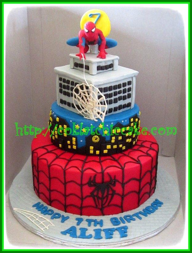Cake Spiderman Aliff Spiderman Cake Cake Decorating Cake
