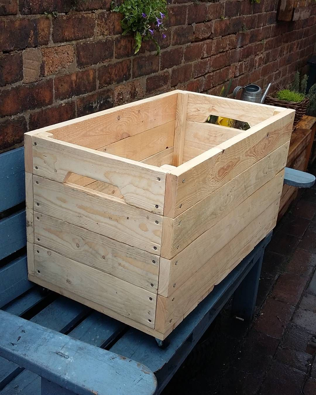 Palletcreationsuk On Instagram Xxl Toybox On Wheels Made Out Of Pallets Pallet Creations Wooden Pallet Projects Woodworking Projects Diy Pallet Creations