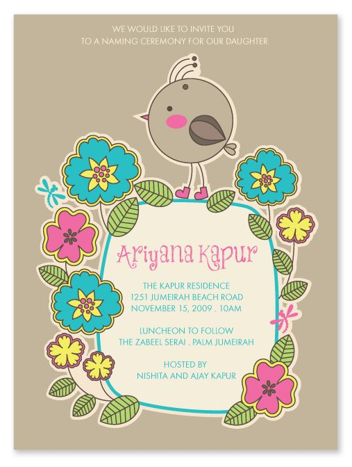 Hindu Naming Ceremony Invitation Diy Pinterest Naming Ceremony