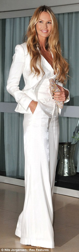 Wish I could rock this look  :) ~ Elle Macpherson (age 47) ~ Rodial Beautiful Awards in London ~ March 2012