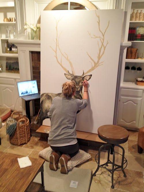 Oh Deer: Upgrading Thrift Store Artwork