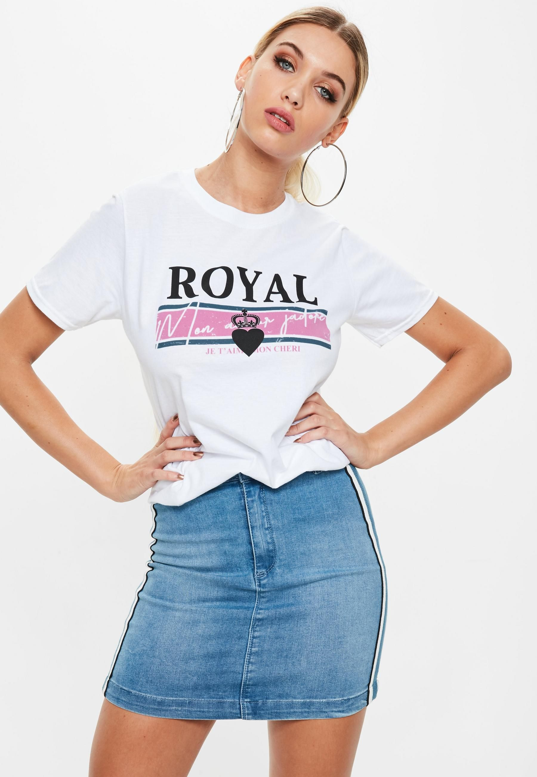 Royal T-Shirt - White Missguided Perfect Get Authentic Discount Wiki Brand New Unisex For Sale Sale Sast 21kyN9lXR