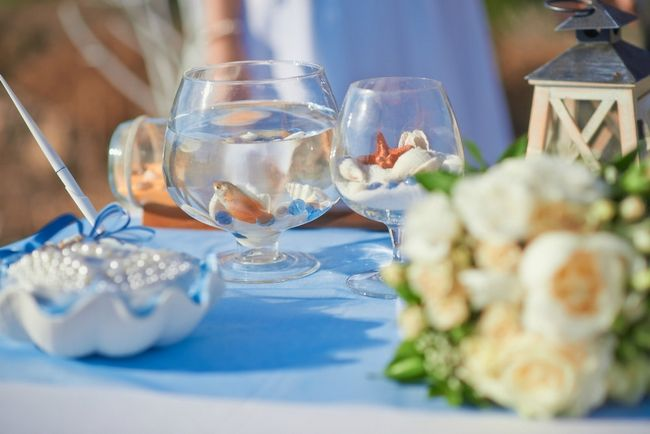 Wedding Decorations Glass Bowls Awesome Glass Bowl With A Goldfish On The Table  Weddings  Pinterest Decorating Design