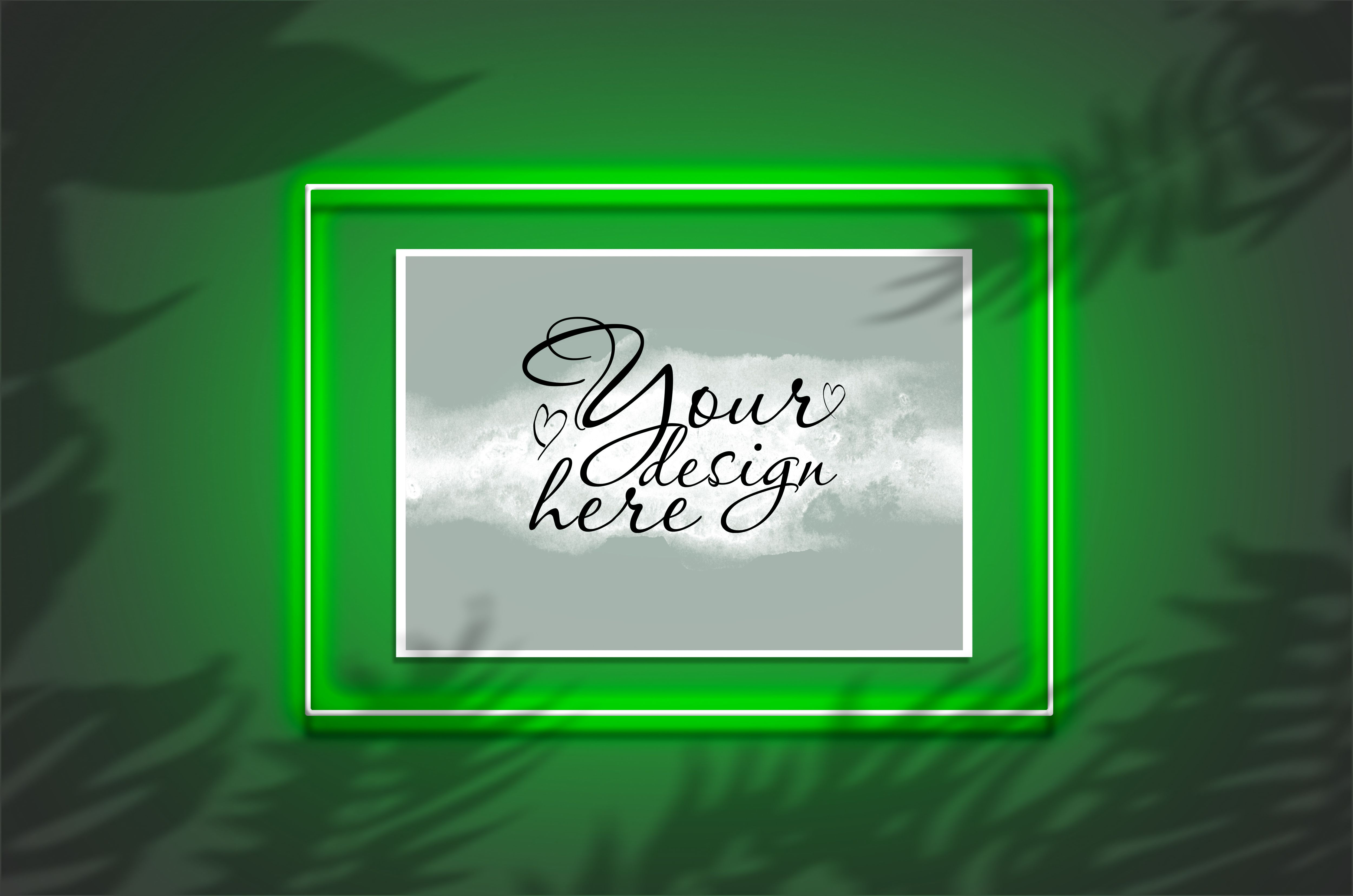 Download Mockup Poster In A Neon Green Frame Graphic By Natalia Arkusha Creative Fabrica Design Mockup Free Poster Mockup Poster Mockup Psd