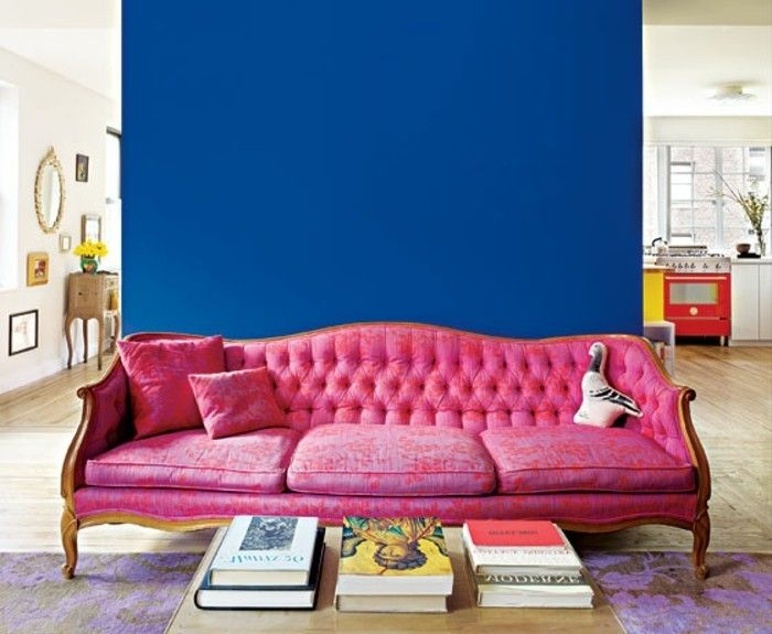 100 Interieur Ideen mit grellen Wandfarben! Room