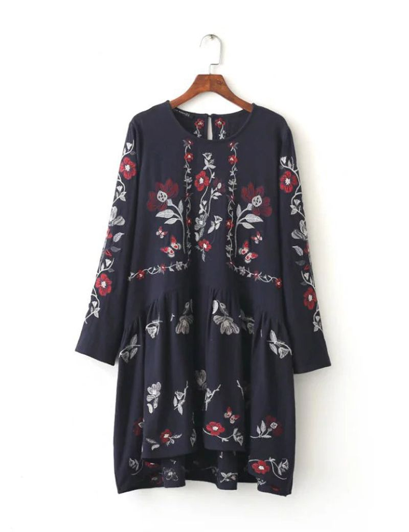 Click to buy ucuc autumn new longsleeved womenus embroidered