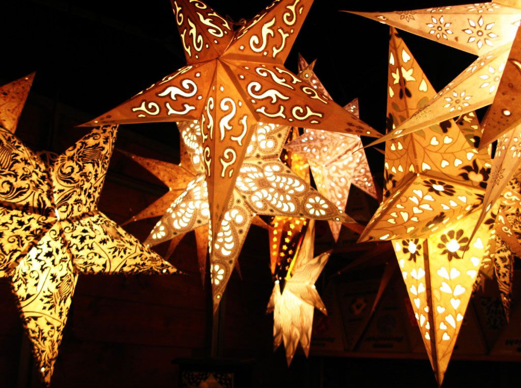 Christmas Lights in India   Paper star lanterns, Paper ...