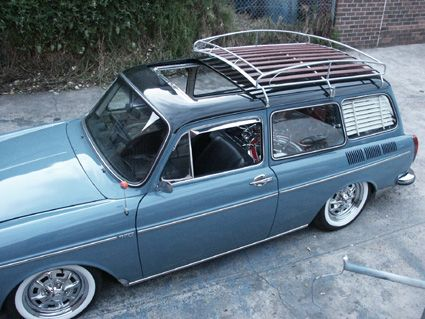 Two Tone Vw Fastback 1973 Volkswagen Type 3 Squareback Factory Metal Sunroof 2 Toned Paint Roof Rackvw
