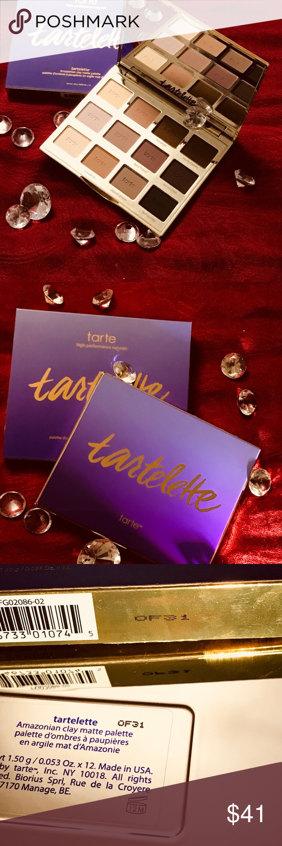Tartellete Powdwe 100 Authentic An Everyday Eyeshadow Palette With 12 All Matte Shades That Are Anything But Bas Everyday Eyeshadow Eyebrow Makeup Tarte Makeup