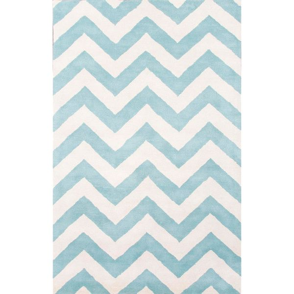 awesome Handmade Geometric-pattern Blue/ Ivory Wool Easy-care Rug (5' x 8') Check more at http://yorugs.com/product/handmade-geometric-pattern-blue-ivory-wool-easy-care-rug-5-x-8/