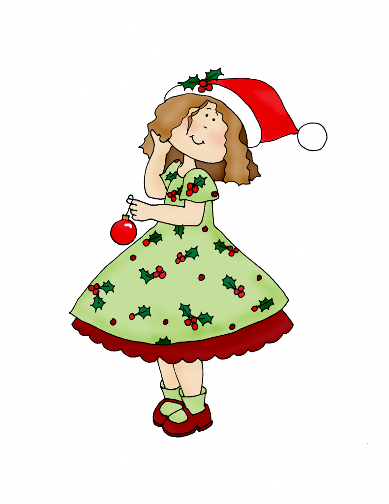 Christmas Dearie color | Dearie Dolls Digi Stamps | Clipart ...