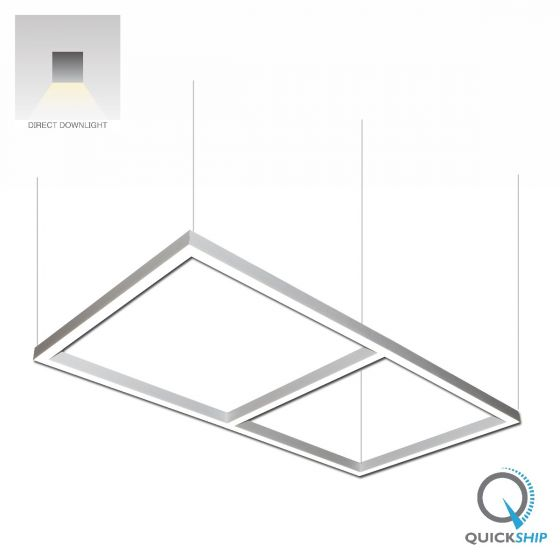 Alcon Lighting 12100 22 P Rc Continuum 22 Architectural Led 48 Inch X 96 Inch Rectangle Pendant Direct Li Hanging Light Fixtures Retail Lighting Light Fixtures
