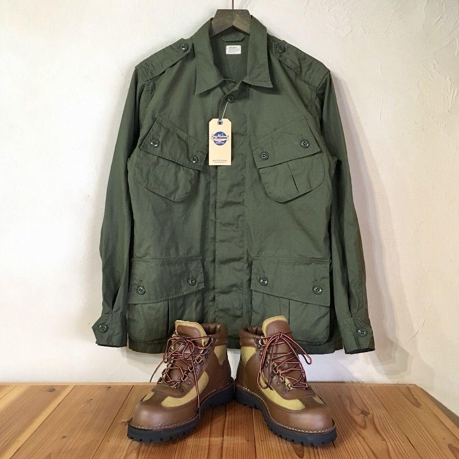 uzz rickson s coat man s combat tropical コットンポプリン生地を使用した定番のジャングルファティーグジャケットの初期モデルです ポプリン モデル カジュアル