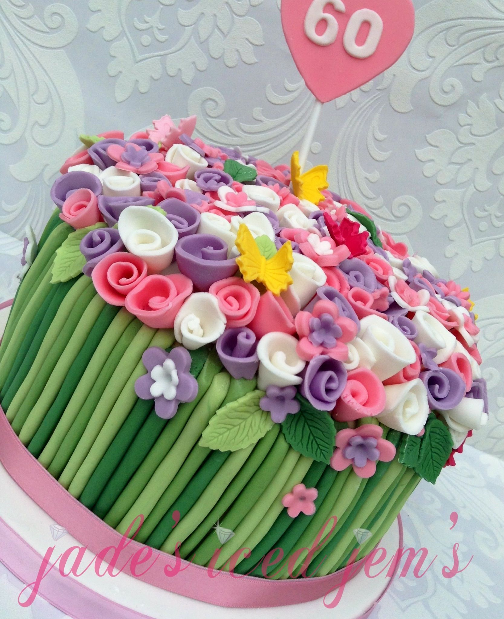 Flower Cake Bouquet Cake Flower Stem Cake Colour Cake Simple