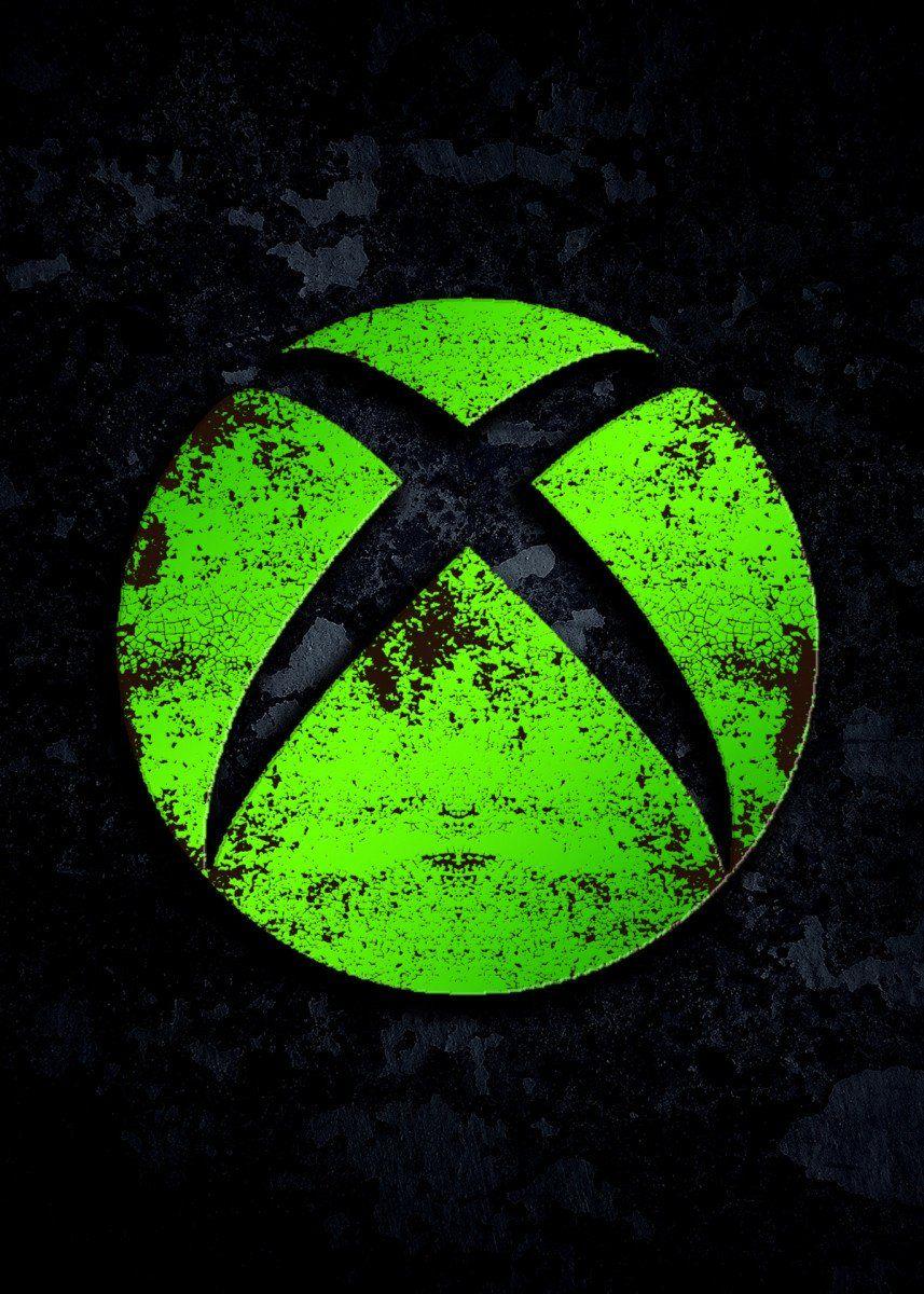 Xbox Logo Gaming Poster Print metal posters in 2020