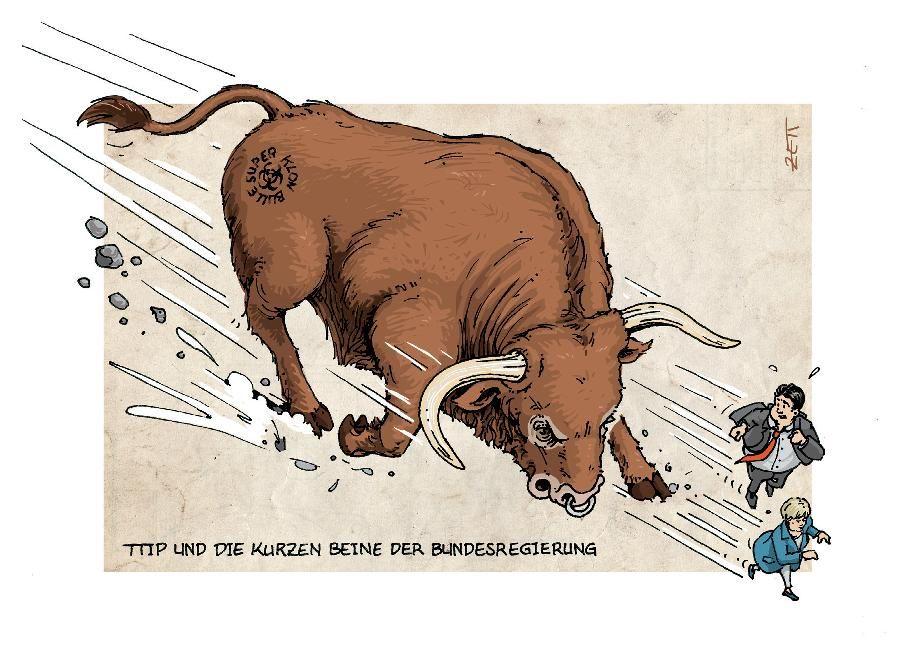 Wer TTIP sät, wird Gentechnik und Klon-Tiere ernten! - Postkarten-Aktion