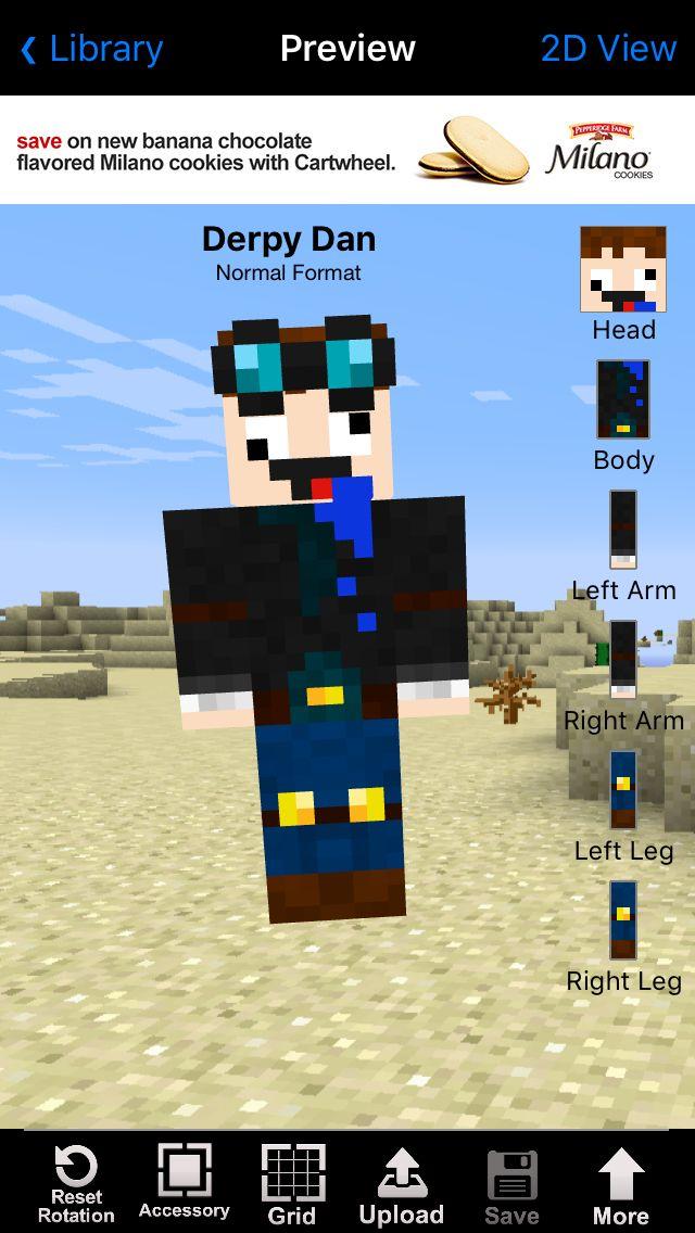 minecraft 2d skin editor
