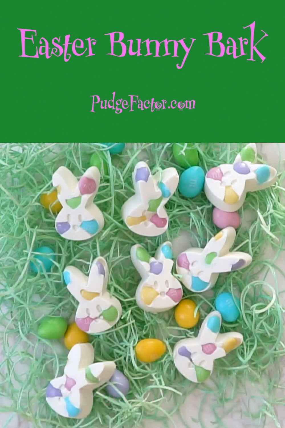 Photo of Easter Bunny Bark contains only two ingredients and takes minutes to make. It is…