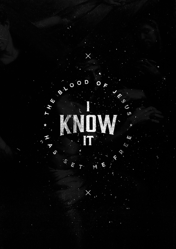 I Know It - original typography print from The Worship Project. An alternate version of a previous design from 2013!