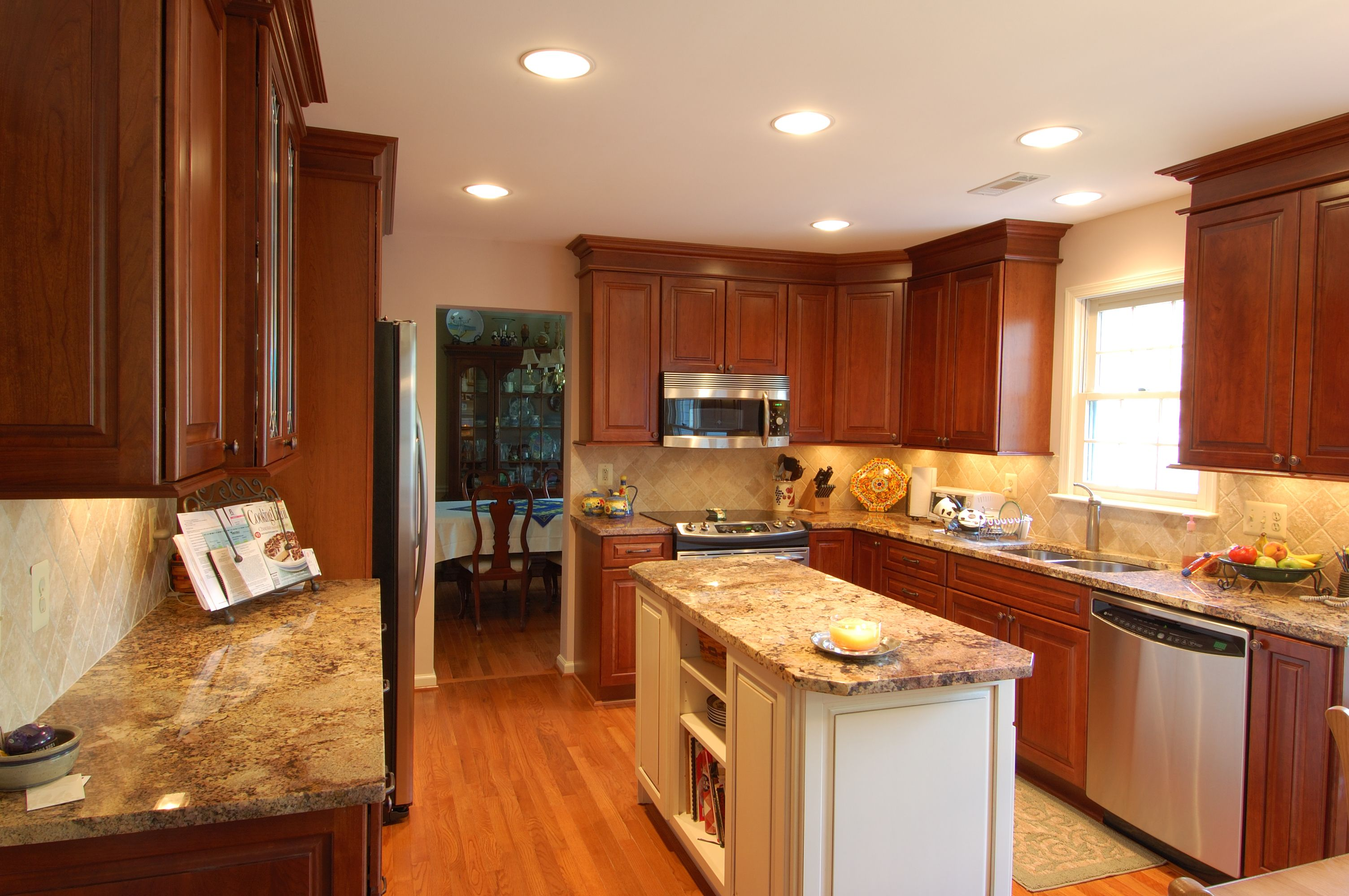 kitchen charming remodel kitchen cost with varnished cherry wood
