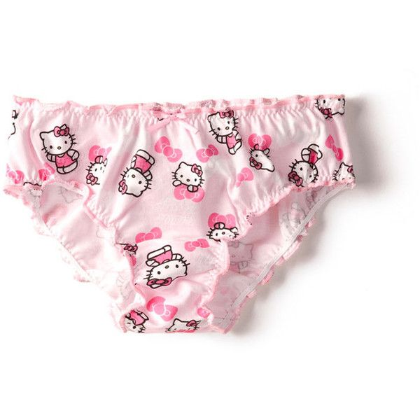 Pack Of 3 Hello Kitty Gathered Panties ( 2.99) ❤ liked on Polyvore  featuring intimates 0fc34cc94