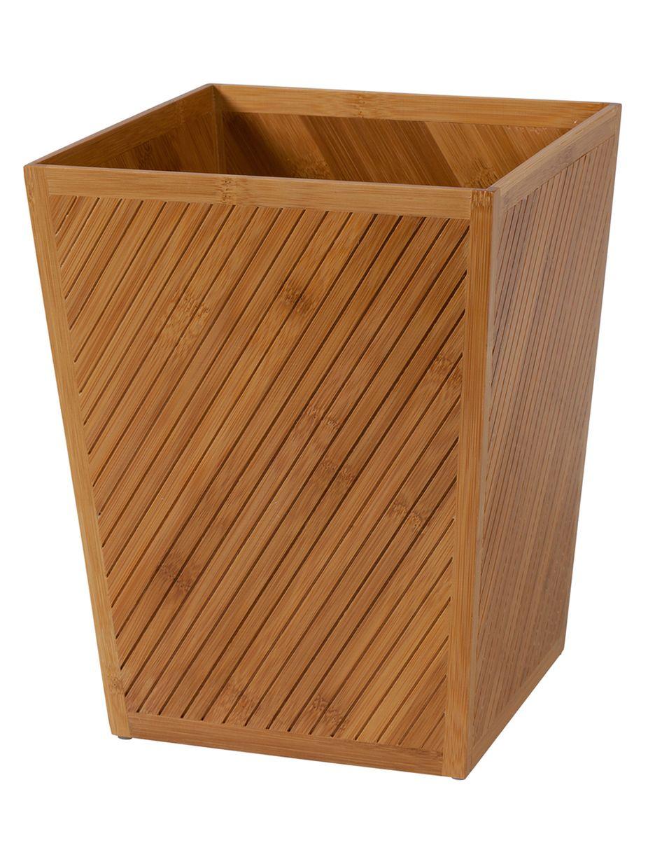 Creative Bath Spa Waste Basket Fashion Home Decoration Bamboo