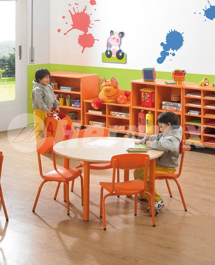 Mesa redonda para centros escolares mesas escolares for Mesas comedor escolar