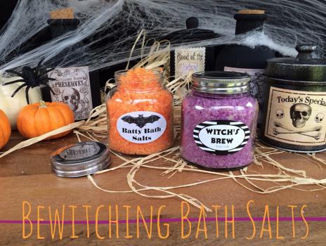 bewitching halloween bath salts recipe  bath salts recipe