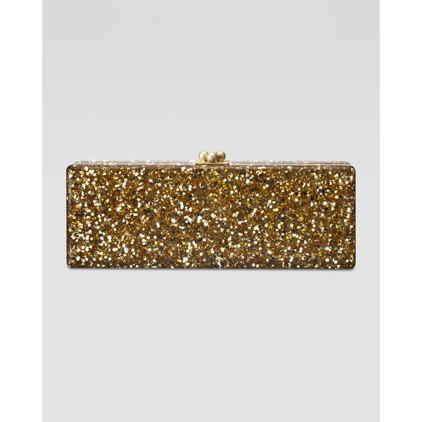 Flavia metallic clutch bag Edie Parker