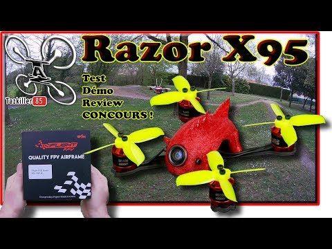 Michel G - RC41: RAZOR X95 iFlight FPV Racer, Review Test Démo / Bo...