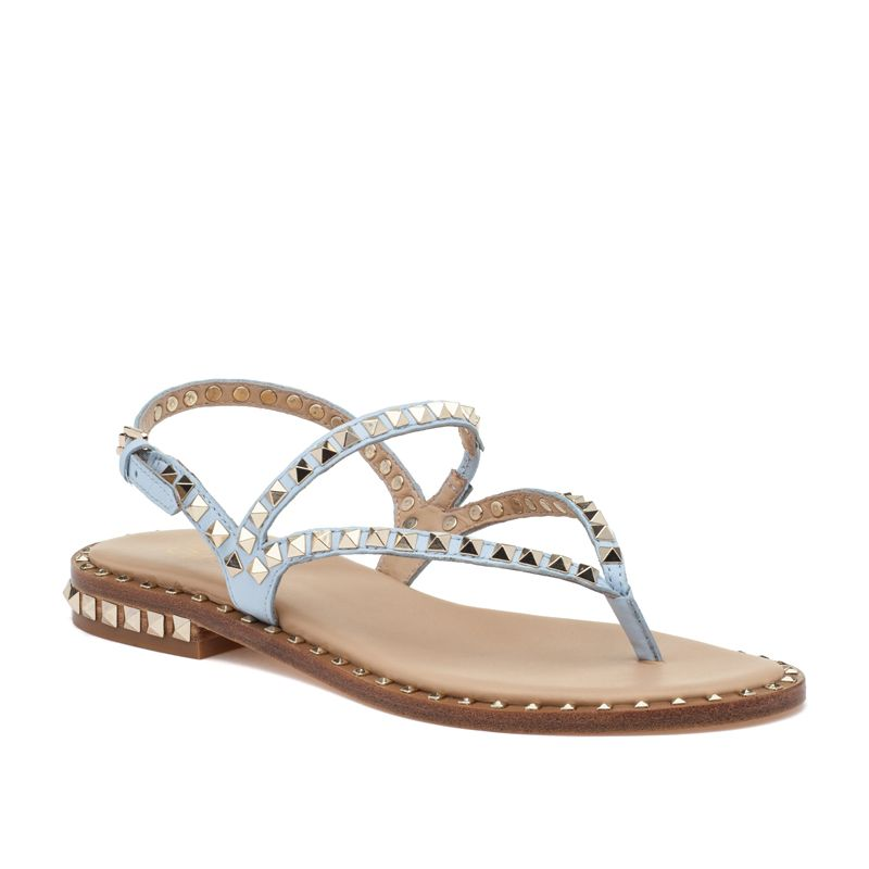 cb2fd434b892 ASH Peps Ice Blue Leather Sandal Gold Studs