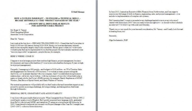Plain Text Cover Letter Format Cover Letter For Resume