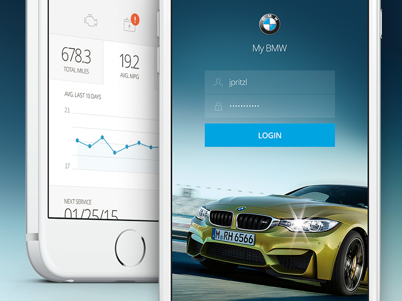 Bmw Diagnostic Dashboard Bmw Car App App Design