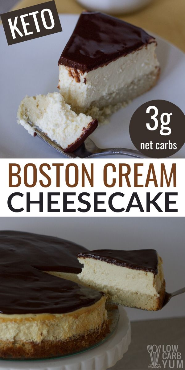 Boston Cream Cheesecake - Low Carb and Gluten Free